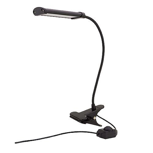 MarsLG 4 Watt LED Flex Neck Clip On Table Lamp With Inline Dimmer Switch,  2409WH   Desk Lamps   Amazon.com