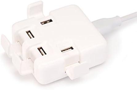 Aita USB cargador portátil 40 W 4 Port multifunción con tapa ...