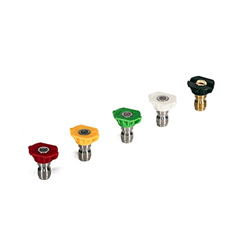 Greenworks 3300 PSI Universal Pressure Washer Spray Tip Attachments (5 pack) 5202402