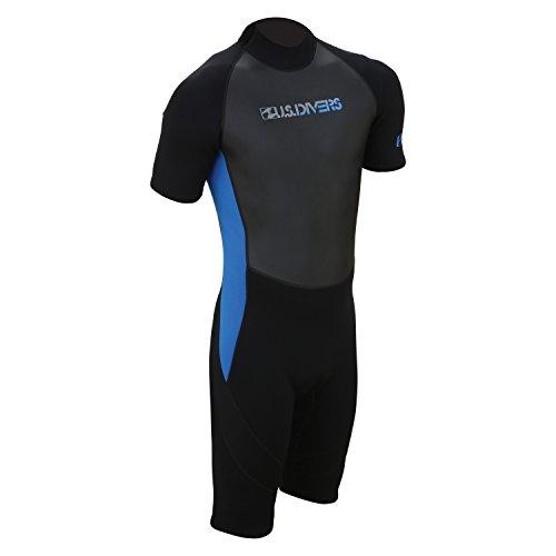 Wetsuits Large Medium - U.S. Divers Adult 2015 Shorty Wetsuit, Black/Blue, Medium Large