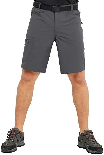 Lightweight Water Resistant MIER Mens Stretchy Hiking Shorts Nylon Quick Dry Cargo Shorts with 5 Pockets