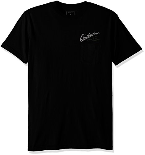 Quiksilver Men's Short Sleeve Modern Fit T-Shirt, Melted Wax Black, X-Large