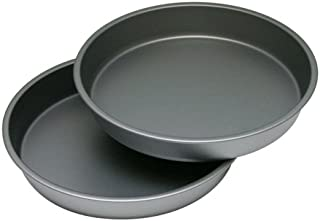 """product image for G & S Metal Products Company OvenStuff Nonstick Round Cake Baking Pan 2 Piece Set, 9"""", Gray"""