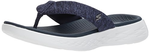 Skechers Damen On-the-way 600 Monarca Plateau Sandalen, Schwarz Navy / Bianco