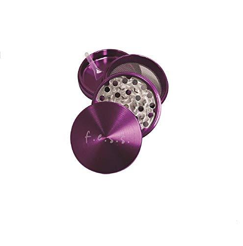 rs Premium Large 2.0 Inch Herb Grinder with Pollen Catcher - 4 Piece Aluminum (Purple) ()