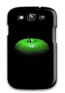 New Diy Design Three Apples On Black For Galaxy S3 Cases Comfortable For Lovers And Friends For Christmas Gifts