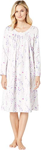 Carole Hochman Women's Brushed Back Satin Waltz Gown, Stripe Ditsy Floral, M