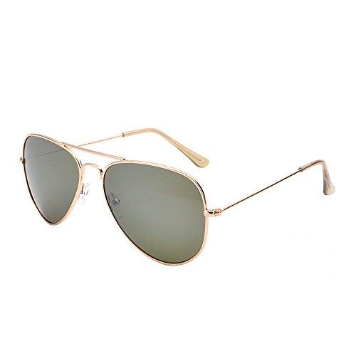 Classic Mirrored Aviator Sunglasses Double Bridge Men Women UV400 - Small Aviator Sunglasses