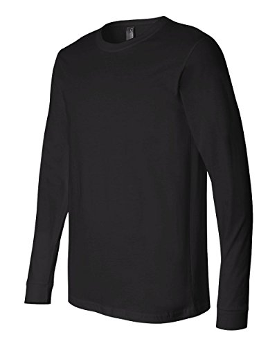 Price comparison product image Canvas 3501 Mens Jersey Long-Sleeve T-Shirt, Black, Small