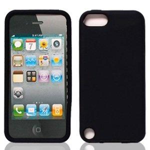 Bundle Accessory for Apple Ipod Touch 5 - Black Silicon Skin Soft Case Protector Cover + Lf Stylus Pen + Lf Screen Wiper