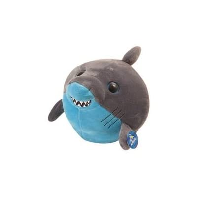 "Bright Eyes Stuffed Grey and Blue Shark Plush 8"" By The Petting Zoo: Toys & Games"