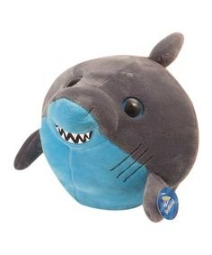 Bright Eyes Stuffed Grey and Blue Shark Plush 8