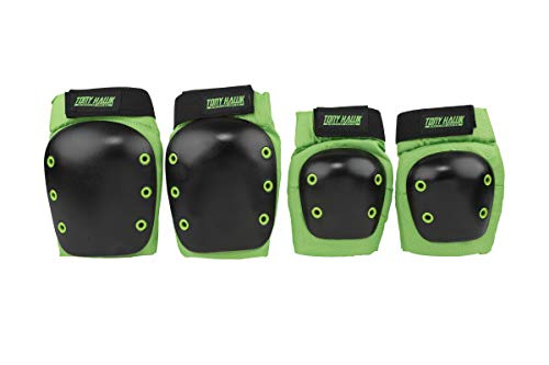 TONY HAWK ACTGEAR-244TH Elbow and Knee Pads, for Skateboarding, Biking, Inline Skating, Protective Gear for Kids, Size Large to X-Large