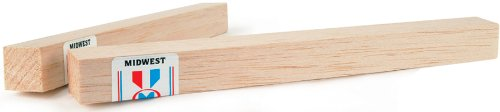 Midwest Products Balsa Wood Block, 12 x 2 x 3-Inch - Midwest Balsa Block