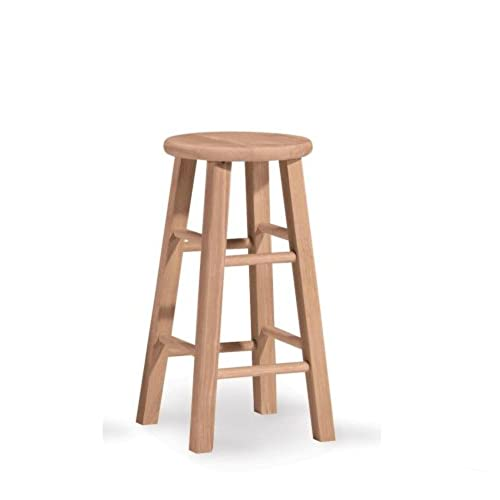 unfinished bar stools. International Concepts 1S-524 24-Inch Round Top Stool, Unfinished Bar Stools P