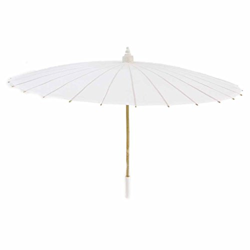 Price comparison product image Candy Coated Cloth Parasol with Tassel, White