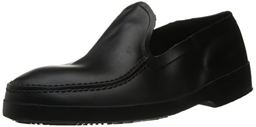 Tingley Men's Moccasin Stretch Overshoe,Black,L(10-11.5 US Men's)