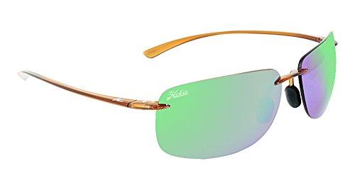 Hobie Eyewear Rips Sunglasses (Shiny Crystal Brown Frame/Copper/Sea Green