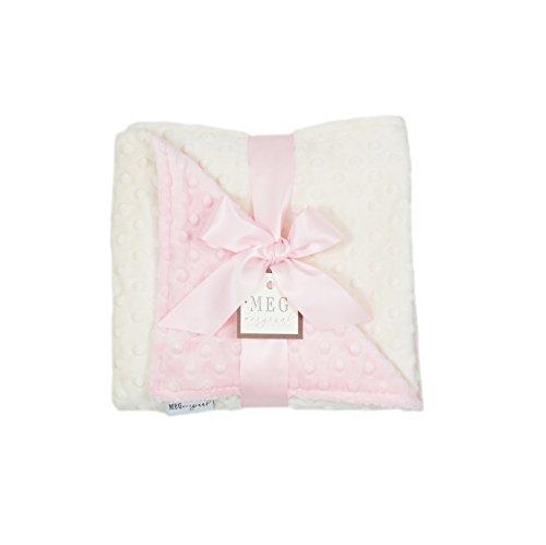 New Dot Minky (MEG Original Pink & Ivory Minky Dot Baby Girl Blanket)