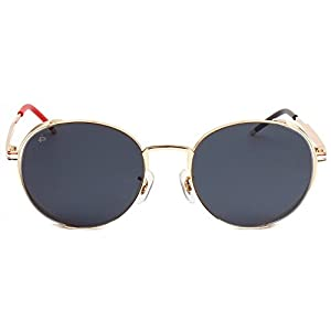 """PRIVÉ REVAUX ICON Collection """"The Riviera"""" Handcrafted Designer Round Sunglasses (Grey)"""
