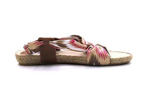 Ibiza - Pantolette - Damenschuhe Zehentrenner Pink