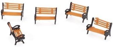 5pz Panchina In Miniatura Panco Giardino Modello Treni Paesaggio Scala 1:100
