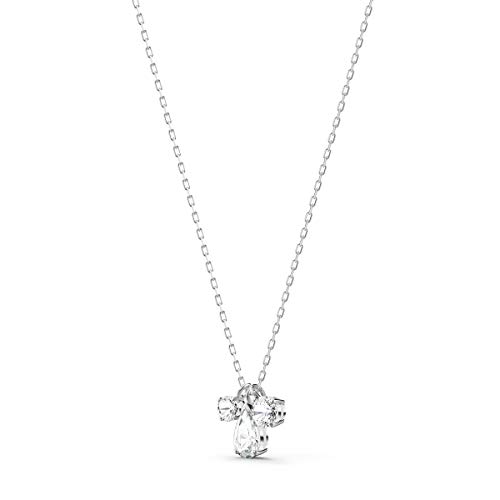 SWAROVSKI Women's Attract Pear Jewelry Collection, Rhodium Finish, Clear Crystals
