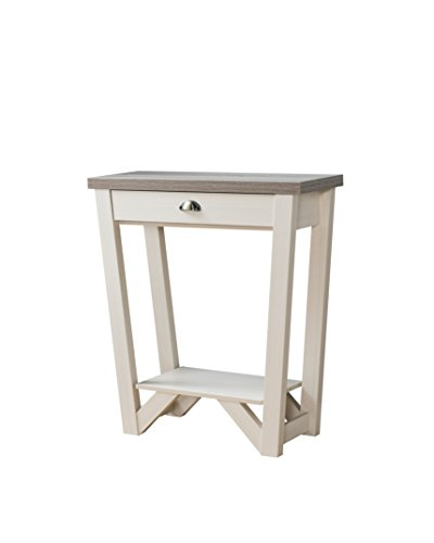 247SHOPATHOME IDI-161779 Dario's Sofa Table, Ivory, Oak