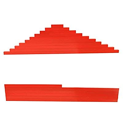 Danni Wood Montessori Math Toys Red Rods Length 5-50cm Number Rods Math Toy Early Learning Educational Christmas: Toys & Games