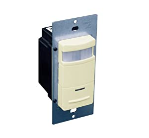 Leviton ODS10-IDI Decora Passive Infrared Wall Switch Occupancy Sensor, Ivory