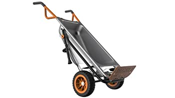 Worx Aerocart Multifunction 2-wheeled Yard Cart, Dolly, & Wheelbarrow With Flat Free Tires - Wg050 1