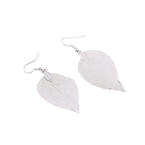 - Clearance! 2018 Women Girls Dangle Earrings Ear Earrings Jewelry Bohemian Vintage Leaf Earring Charm Drop Earrings for Women (Silver)