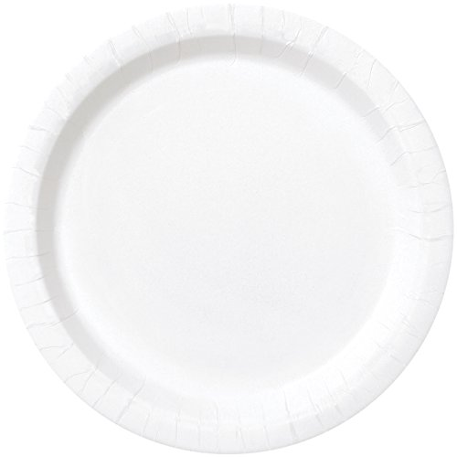 White Paper Plates, 16ct Baby Solid Color Tableware