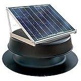 Solar Attic Fan 24-watt - Black - with 25-year warranty - Florida Rated