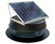 (Solar Attic Fan 24-watt - Black - with 25-Year Warranty - Florida)