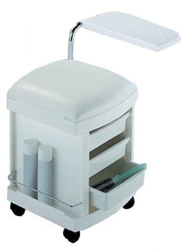 Hive White Manicure Table Nail Bar Technicians Salon Desk Portable Mobile  CODE: HBQ2307