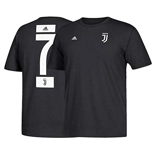 0a8495bca adidas Cristiano Ronaldo Juventus F.C. Men s Black Name and Number T-Shirt  Large