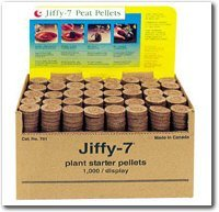 50 Count - Jiffy 7 Peat Pellets - Seed Starter Soil Plugs - 36 mm - Start Seedlings Indoors - Easy To Transplant To Garden