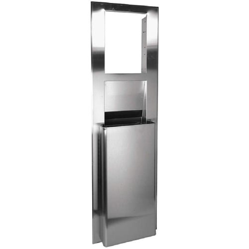 Georgia Pacific 59471 enMotion 9.6 Gallon Recessed Trash Receptacle Unit, Stainless (Waste Receptacle Unit)