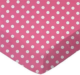 product image for SheetWorld Crib Sheet Set - Polka Dots Pink - Made In USA