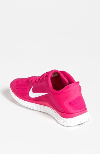 Nike Women's Free 4.0 V3 Club Pink/Black/Vintage Green Running Shoes 8 Women US