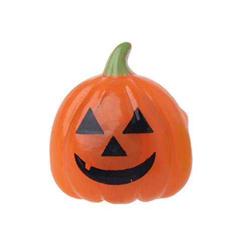 Allrise Halloween LED Flashing Light Finger Ring Supplies Party Kids Toys,Pumpkin with -