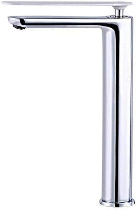 S-TING 蛇口 バスルームのシンクは、スロット付き浴室の洗面台のシンクホットコールドタップミキサー流域の真鍮シンクミキサータップ銅は、流域の蛇口ホットとコールドシングルハンドルダブルコンソール流域の蛇口を高めタップ 水栓金具 立体水栓 万能水栓
