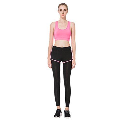HJMTRY Vêtements de sport Yoga Leggings et soutien-gorge 2 pc Suit Pilates Gym Dance Sportswear , S