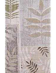 (Tropical Leaf Imprints Vinyl Flannel Back Tablecloth (52