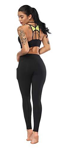 Fengbay High Waist Yoga Pants, Pocket Yoga Pants Tummy Control Workout Running 4 Way Stretch Yoga Leggings (X-Small, L Black) by Fengbay (Image #3)