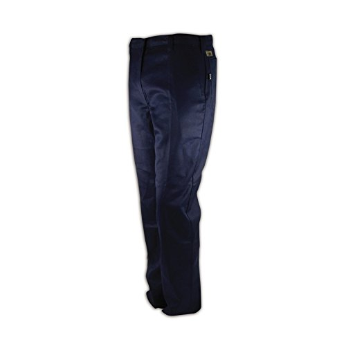 Magid Glove & Safety N1531RF-42X28 Magid N1531RF Arc-Rated 9.0 oz. 100% FR Cotton Relaxed Fit Heavy-Duty Pants, 46x30, Navy, 42x28 by Magid Glove & Safety