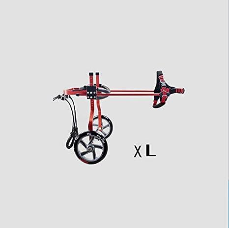 JKL Sillas de ruedas para mascotas, ciclomotores, patinetas para perros, aleación de aluminio