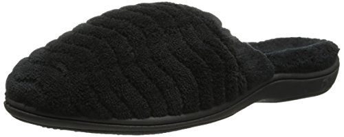 Women's Acorn 'Spa Support' Scuff Slipper, Size Large - Blac