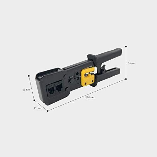 Steel Network Crimp Tool Crimping Stripper For 8P 6P Network Crystal Head EZ Pass Through Ethernet Crimper Professional Heavy Duty Plier Set Function